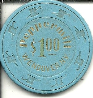 - $1 peppermill house wendover nevada casino chip vintage obsolete