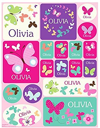amazon com personalized custom name stickers name label name decal