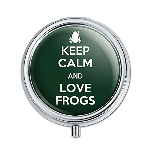 Keep Calm And Love Frogs Pill Case Trinket Gift ()