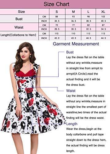 Mujer 4 Para Vestido 24 Floral Estilo Yafex 0w6ESIq5x