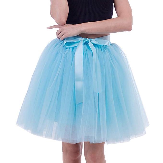 1f88c136a Vectry Falda Azul Ligero Falda De Flamenca Niña Faldas Mujer Cortas ...