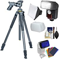 Vanguard Alta Pro 2 263AGH 68.1 Aluminum Tripod with GH-100 Pistol-Grip Ball Head & Case with Flash + Soft Box + Color Gels Set + Kit