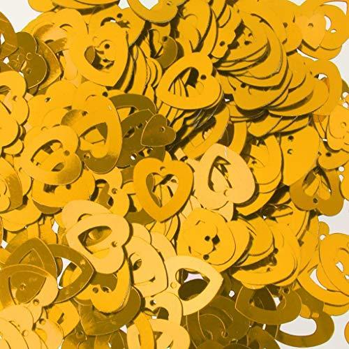 BROSCO Wedding Heart/Star Table Confetti Foil Decoration Birthday Party Confetti Supply   Color - Gold Hollow Heart
