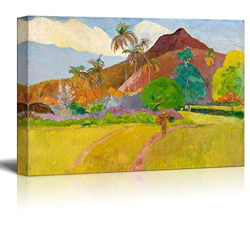 wall26 - Tahitian Landscape by Paul Gauguin - Canvas Print Wall Art Famous Painting Reproduction - 16
