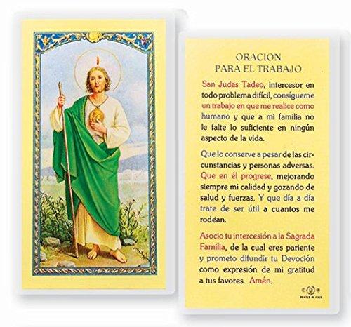 Oracion a San Judas Tadeo para Obtener Trabajo Tarjeta de Rezo Importada de Italia Laminada con Acentos en Oro (Oracion A San Judas Tadeo Para El Trabajo)