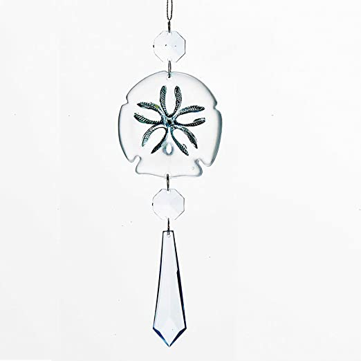 Acrylic Sand Dollar Dangle Christmas Ornament