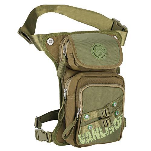 Leg Bag, Holster Bag, Motorcycle Bag Vanlison Tactical Fanny Pack Thigh Bag Leg Pouch Concealed Fanny Pack Green