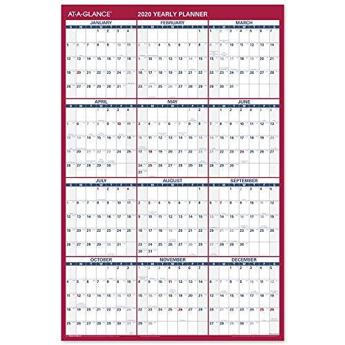 AT-A-GLANCE 2020 Erasable Wall Calendar, 36