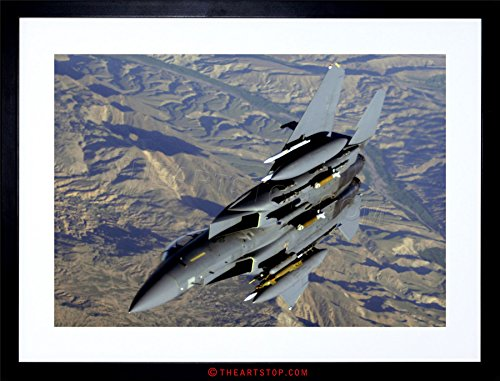 The Art Stop WAR Photo Military Plane Fighter Jet F-15E Strike Eagle Framed Print F97X4064