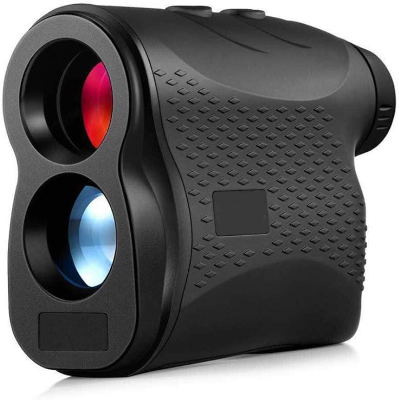 Laser Range Finder Caza Golf, Medida de la Lente Ajustable Medición de Distancia del telémetro Telescopio Digital Velocidad de exploración corrección de la Pendiente, Negro