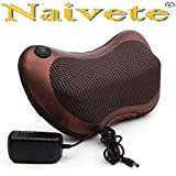 Naivete PU Leather and Mesh Car and Home Pillow Massager