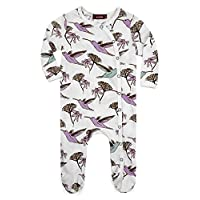 Milkbarn Organic Cotton Footed Sleeper (3-6 months, Hummingbird)