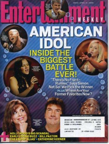 Pickler Kellie Idol (Entertainment Weekly April 21, 2006 Chris Daughtry Kellie Pickler Katharine McPhee Taylor Hicks American Idol, LL Cool J Interview)
