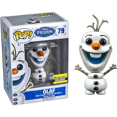 [Disney Frozen Glitter Olaf the Snowman Pop! Vinyl Figure] (Disney Frozen Snowman)