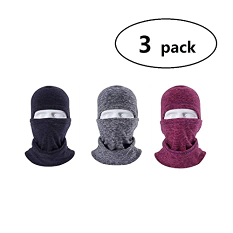 ed356ec9757 3 Pack Men Women Winter Balaclava Full Face Motorcycle Mask Windproof Motorcycle  Helmet Liner Head