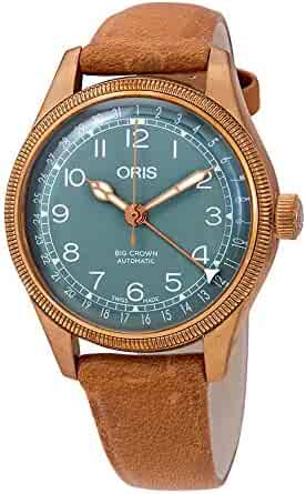 Oris Big Crown Bronze Pointer Date Green Dial Automatic Ladies Watch 01 754 7749 3167-07 5 17 66BR