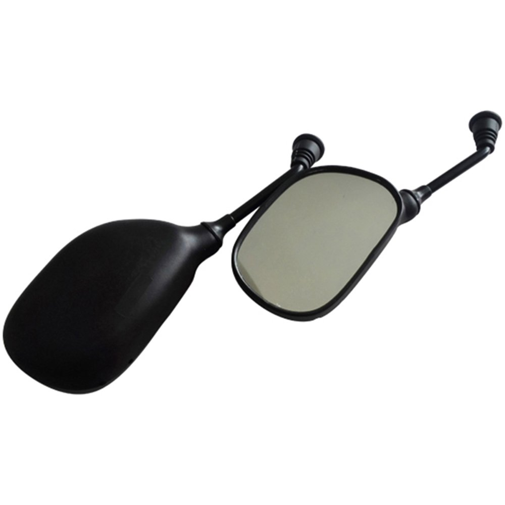 8mm Black Plastic Pair Left Right Side Rearview Mirror for 50cc-250cc GY6 50cc 125cc 150cc Scooter Moped ATV Quad Dirt Bike Go Kart