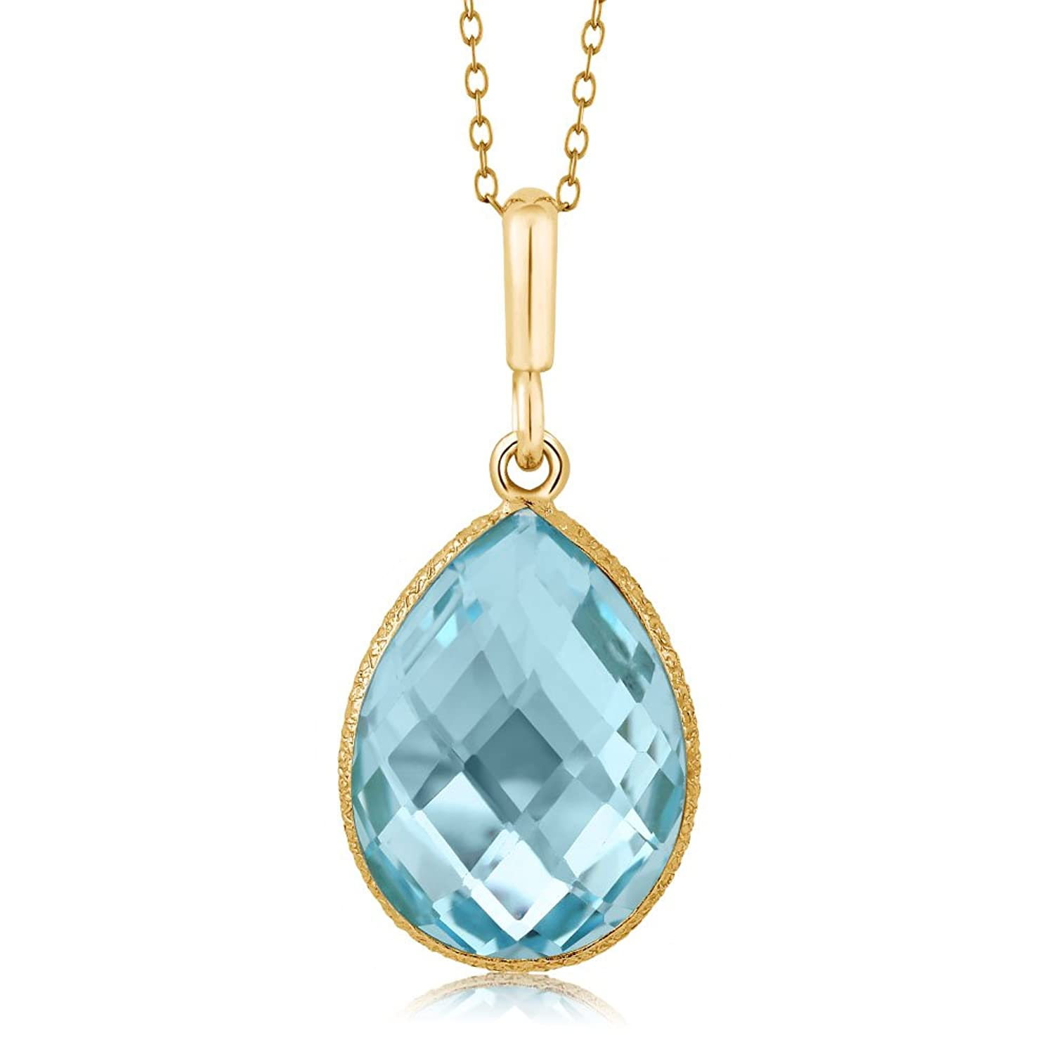 Blue Topaz Pear Shape necklace
