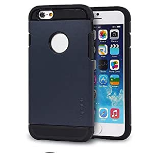 "Totoab Fashion ARMOR Bumper Frame Hard Back Case Cover Skin for 4.7"" Apple iPhone 6 (Purplish blue)"