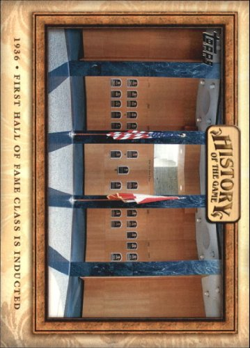 2010 Topps History of the Game #HOG14 1st Hall of Fame Class Inducted -Baseball Card