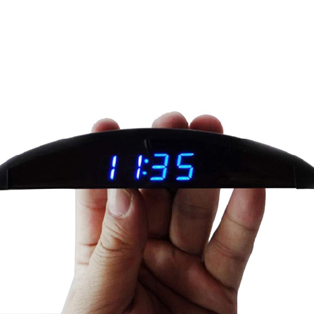 L-DiscountStore Voiture Horloge num/érique thermom/ètre Accessoires de Voiture d/écoration int/érieure Voiture Horloge /électronique voltm/ètre