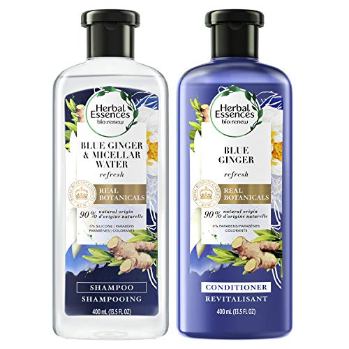 Herbal Essences Bio:Renew Micellar Water & Blue Ginger Shampoo and Conditioner Bundle (Packaging May Vary)