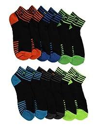 """Fila """"Swift-Dry Stripe Cuff"""" 6-Pack Mini Crew Socks"""