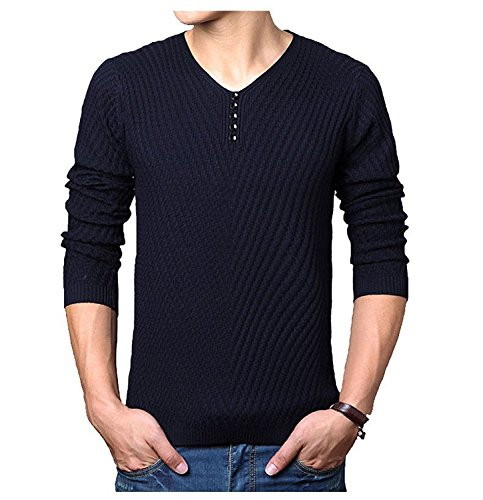 Bikifree Handsome and Silm New Spring autumn Brand men Casual sweater mens Cashmere Wool Pullover christmas sweater men Dress Knitted Sweater Clothing Dark (Acne Jeans Dress)