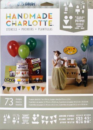 FolkArt Handmade Charlotte Paper Stencils, 4369 Party