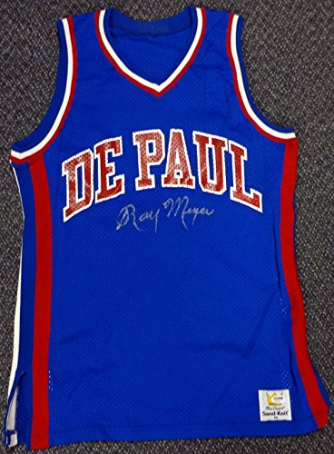 info for bbef0 10cf9 Ray Meyer Autographed DePaul Blue Demons Jersey PSA/DNA at ...