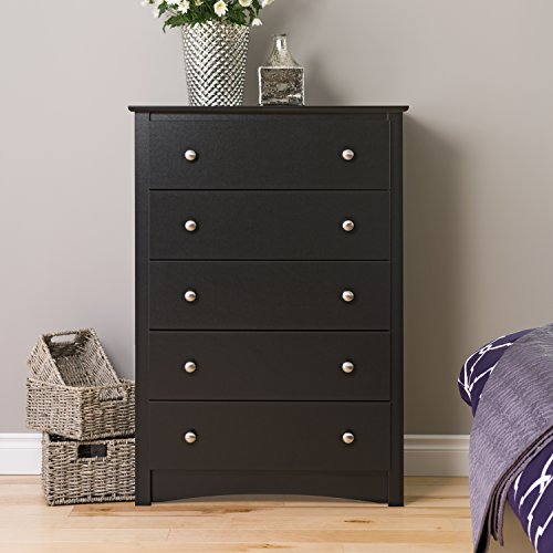 Black Sonoma 5 Drawer Chest by Prepac
