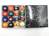 #3: 1 1/2 Inch Pool Table Billiard Ball Set Children's Gift Triangle Set Included