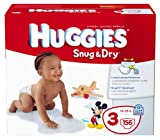 Health & Personal Care : Huggies Snug & Dry Diapers, Size 3, Giant Pack, 156 Count