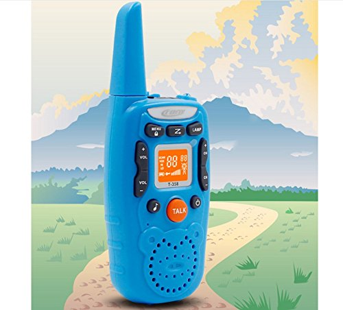 Eoncore T358 Walkie Talkies for Kids Two Ways Radio Toy Long Range 22 Channels 10 Call Tone Build-in Flashlight Blue by Eoncore (Image #6)