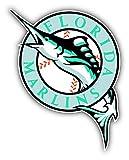 Florida Marlins MLB Baseball Logo Art Decor Vinyl Sticker 4'' X 5''