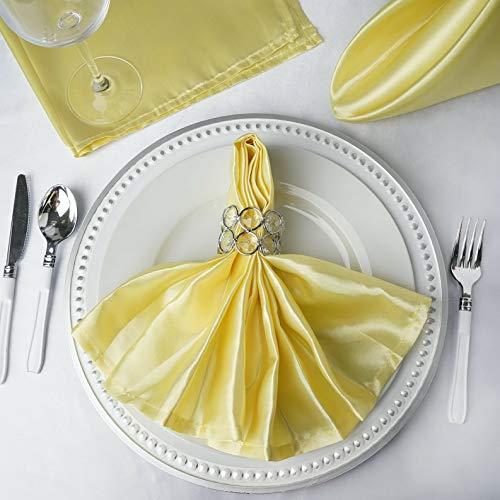 Mikash 20 Satin Napkins Wedding Party Shower Table Supply Decorations Wholesale | Model WDDNGDCRTN - 4535 | 200 pcs -