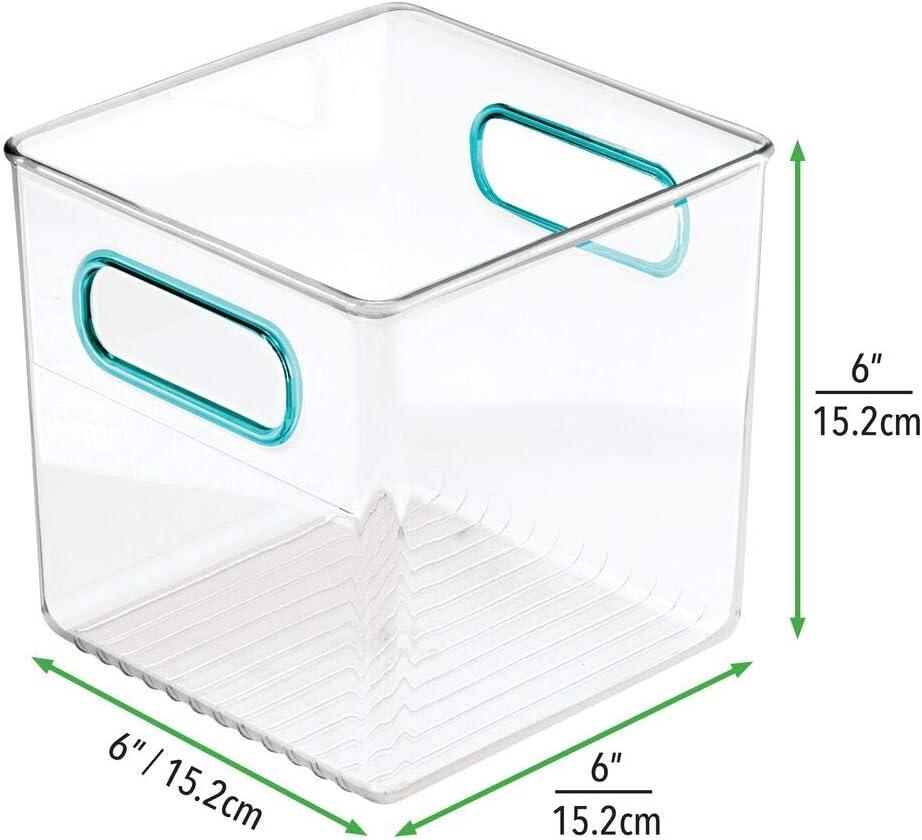 mDesign 2er Set Kinderzimmer Organizer Windeln durchsichtig//hellblau Stofftiere /& Co BPA-freier Kunststoffbeh/älter f/ür Spielzeug gro/ße Sortierbox mit praktischen Griffen