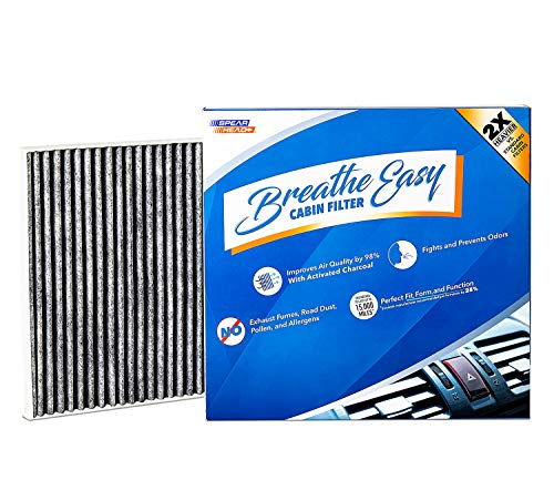 Spearhead Premium Breathe Easy Cabin Filter, Up to 25% Longer Life w/Activated Carbon (BE-709)