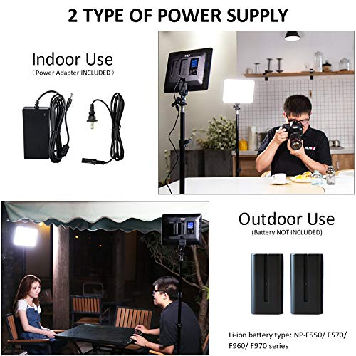 2 Packs VILTROX LED Panel Light with Stand Kit, (30W/2450Lux) Bi-Color Dimmable Studio Photography Video Lighting kit CRI95+ for Wedding News Interview YouTube Live Video by VILTROX (Image #2)