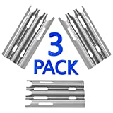 GASPRO SGP081 Gas Grill Replacement Parts for Jenn-Air and Vermont Castings, Stainless Steel Grill Heat Plate Shield Tent BBQ Burner Cover Flame Tamer Deflector Diffuser(3-Pack, 14 1/2 x 7 1/4 inch)