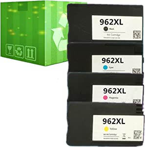 J2INK Remanufactured Ink Cartridge Replacement for HP 962XL 962 4 Pack Ink Cartridge 3JA03AN 3JA00AN 3JA01AN 3JA02AN OfficeJet Pro 9025 9020 9018 9015 9010