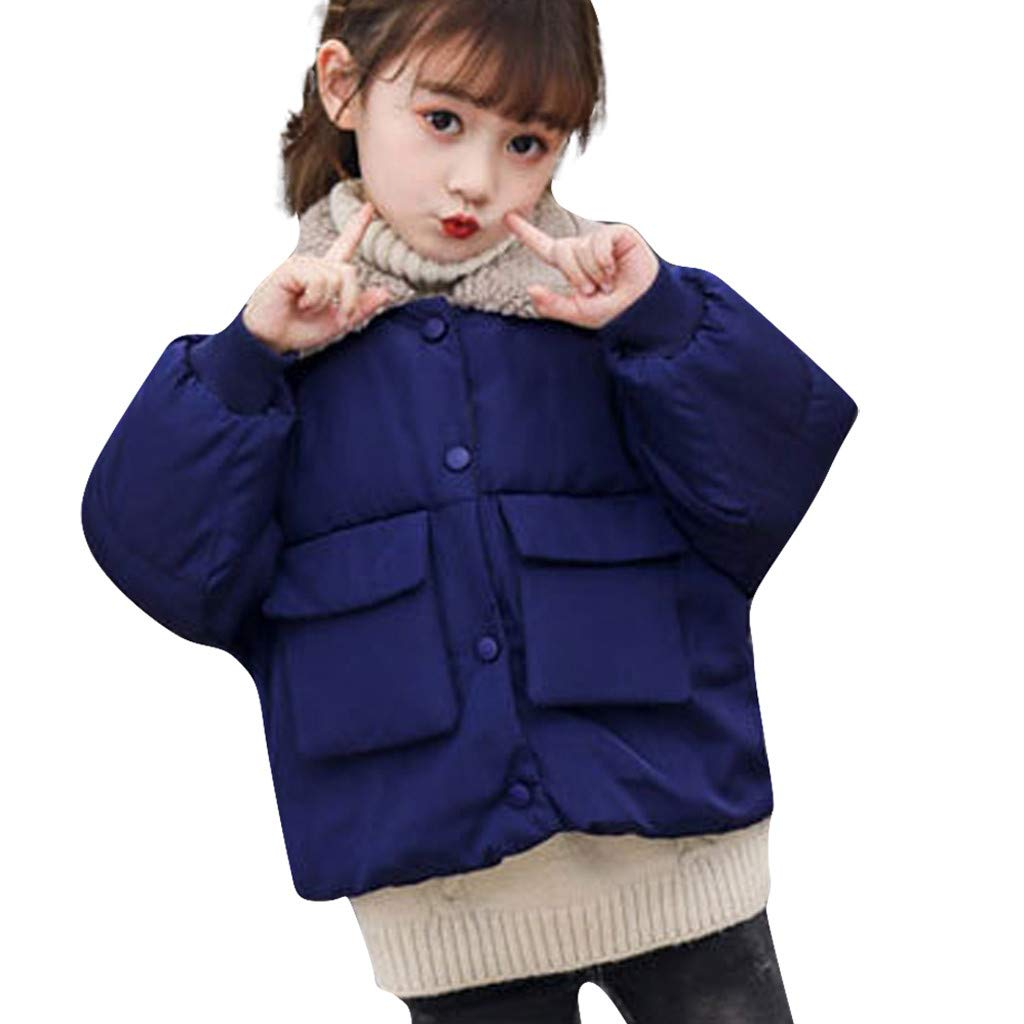 Lataw Kids Outerwear Girls Baby Casual Winter Warm Fleece Coat Jacket Solid Outwear Padded Cute Snowsuit Tops Clothes by Lataw
