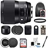 Sigma 135mm f/1.8 DG HSM Art Lens for CANON EF Cameras w USB Dock & 32GB Premium Travel Bundle