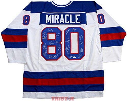 1980 USA Hockey Signed Autographed Miracle On Ice Custom Jersey – 19 Signatures TRISTAR COA