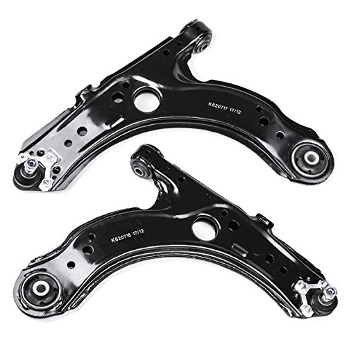 AUQDD 2PC K620717+K620718 Professional Front Lower for Suspension Control Arm and Ball Joint Assembly for Volkswagen Beetle Golf Jetta City IV Clasico L4 Bora Comfortline Europa GLS GTI Trendline A4