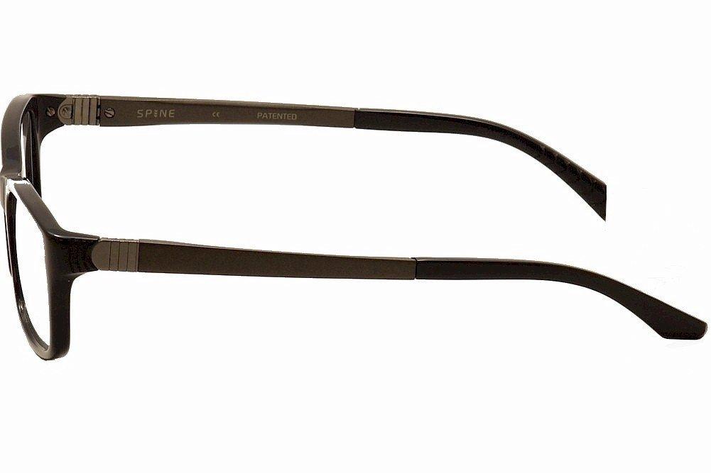 e925dbfe7c Amazon.com  Spine Eyeglasses SP1001 SP 1001 001 Black Full Rim Optical Frame  56mm  Health   Personal Care