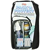 JL Childress Pack 'N Protect Tote for Glass Bottles and Jars, Black