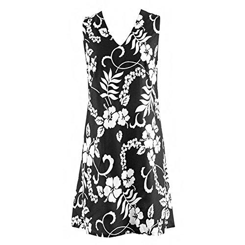 Peppermint Bay Women's Bathing Suit Cover-up Sundress -Black Flowers