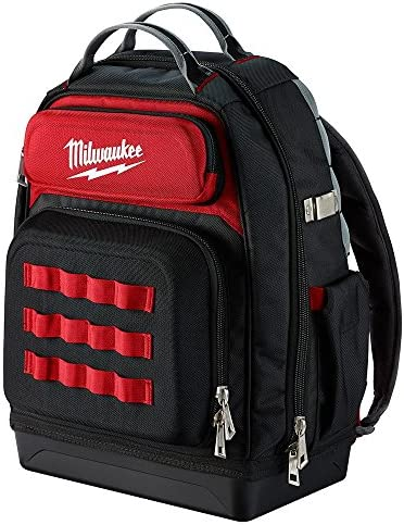 Milwaukee Ultimate Jobsite Backpack,Constructed of 1680D Ballistic Materials,with 48 Total Pockets, 5X More Durable and 2X More Padding, unsurpassed Comfort and Jobsite Performance