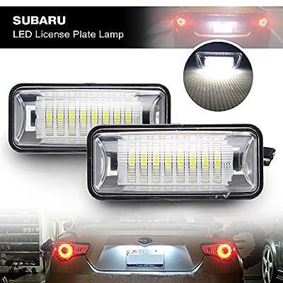 LED License Plate Light for Subaru BRZ - NSLUMO Led Number Plate Lamp Rear Registration Tail License Plate Light Bulb OEM Fit for Subaru BRZ WRX Toyota 86 GT86 FT86 Scion FR-S (FT-86, Subaru): Automotive